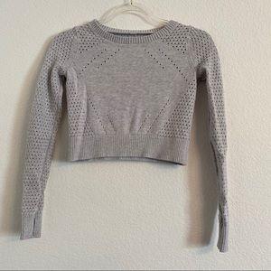 Ivivva Lululemon girls gray crop sweater size 10